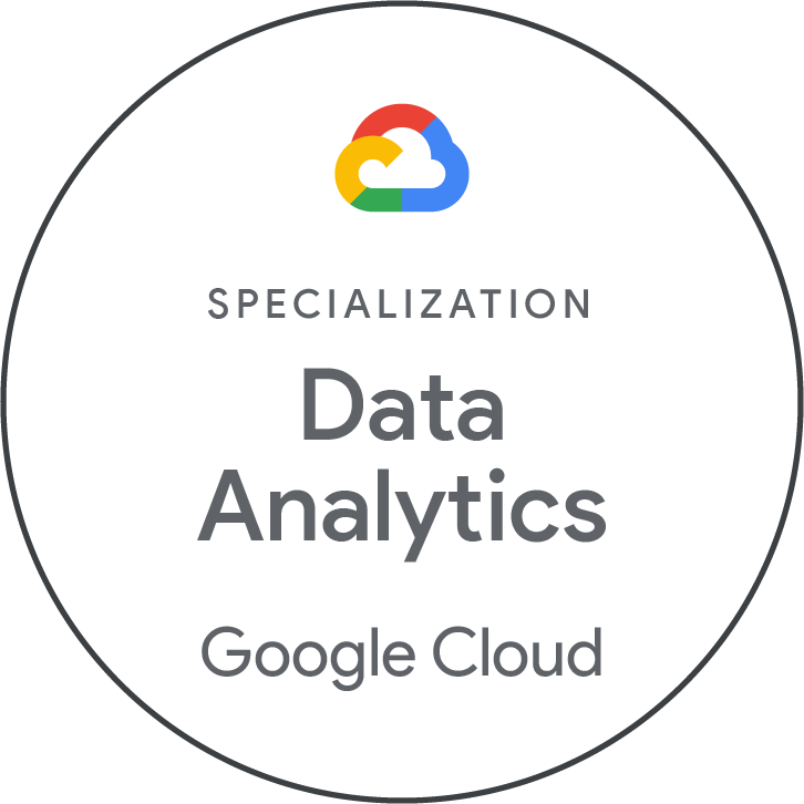 Google Cloud Platform - Data Analytics Specialization