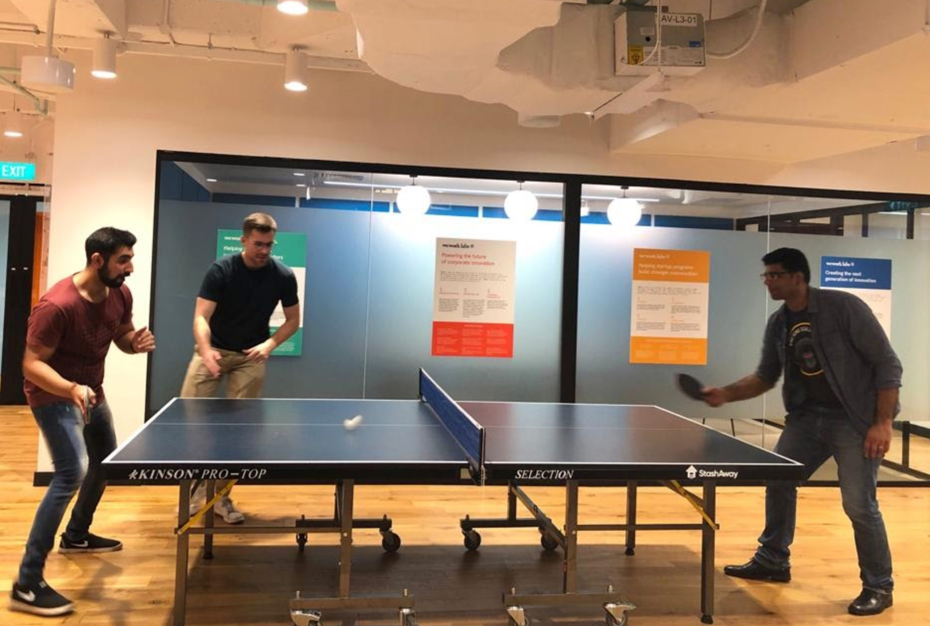 Table Tennis matches – a usual sight on Friday evenings